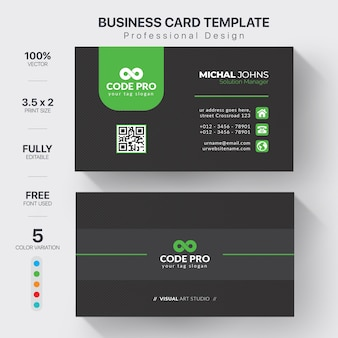 Vector template visit card