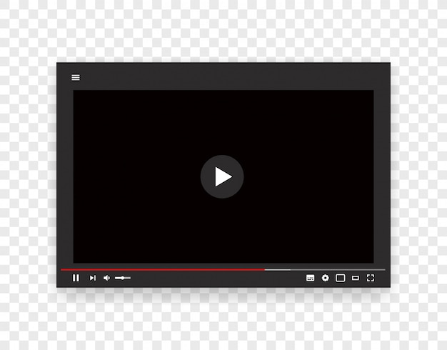 Vector template of web video player. internet stream mockup
