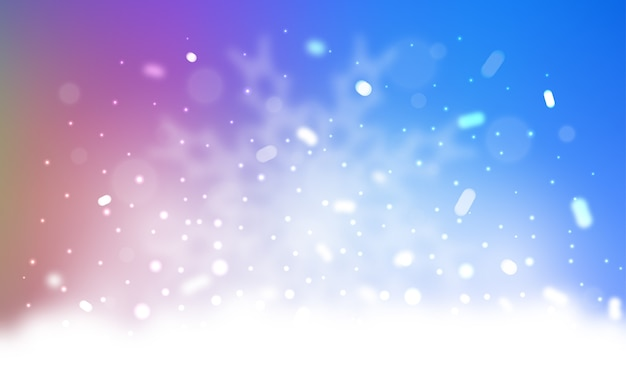 Vector template with ice snowflakes