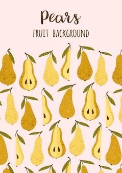 Vector template with pears