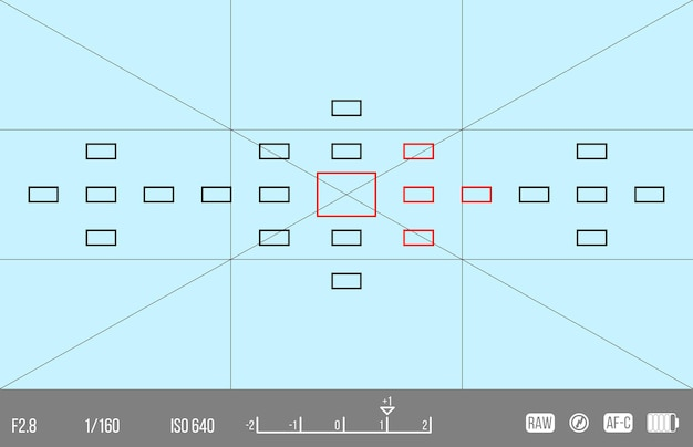 Vector template for your design. camera viewfinder. focusing screen of the camera