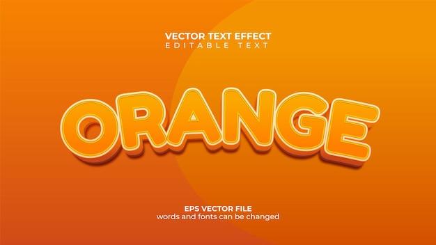 Вектор текстовый эффект оранжевый концепции
