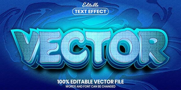 벡터 텍스트, 글꼴 스타일 편집 가능한 텍스트 효과