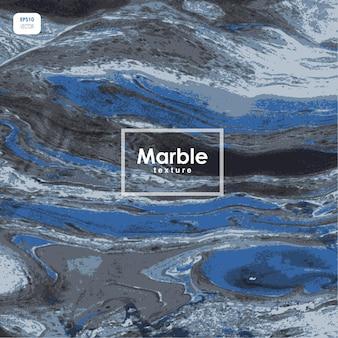 青い大理石のベクトルテクスチャ、抽象的な石のテクスチャ。
