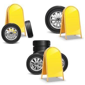 Вектор шины с рекламным щитом, изолированные на белом фоне