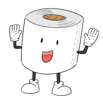 Vector of tissue paper cartoon