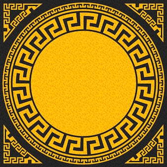 Vector traditional vintage gold greek ornament (meander)