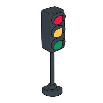 Vector of traffic light