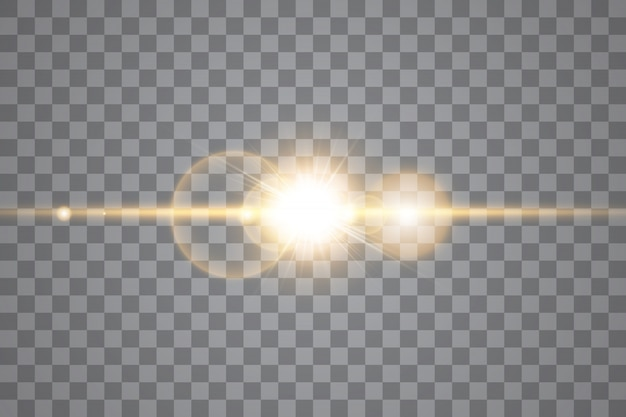 Vector transparent sunlight special lens flare light effect. isolated sun flash rays and spotlight. white front translucent sunlight. blur abstract glow glare decor element. star burst
