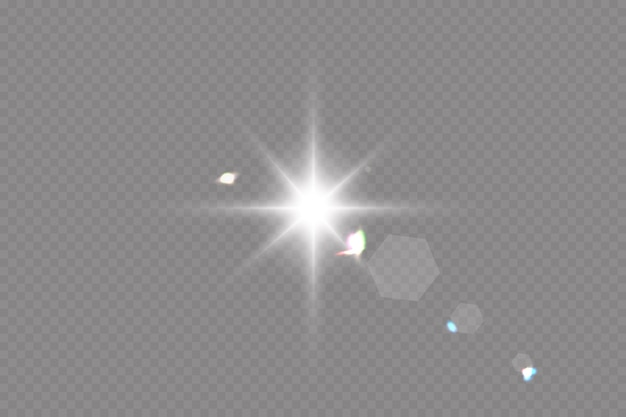 ベクトル透明な日光特殊レンズフレアライト効果。