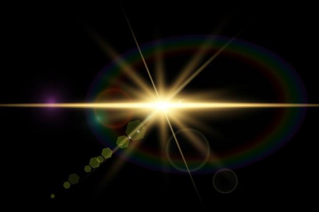 ベクトル透明日光特殊レンズフレアライト効果
