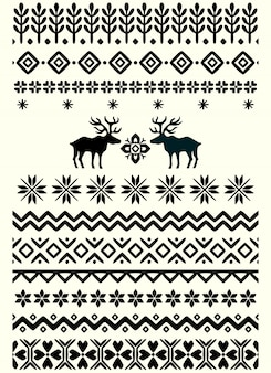 Vector ugly sweater seamless