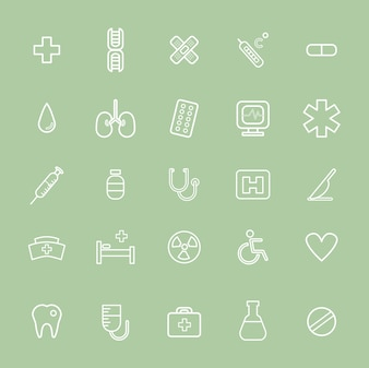 Vector UI Illustration Health Healthcare Hospital Concept