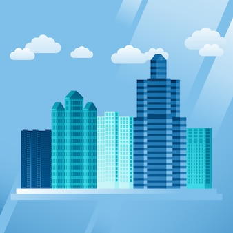 Vector urban concept in flat style