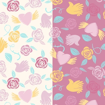 Vector valentine seamless pattern