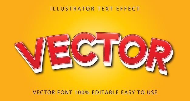Vector vector editable text effect