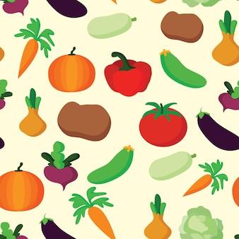 벡터 야채 패턴 야채 원활한 배경