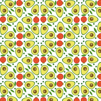 Vector vegetables seamless pattern  in flat style