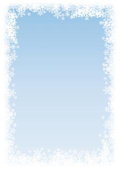 Vector vertical winter background