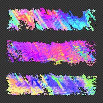 鮮やかなさまざまな色のベクトル現代アートグラフィックデザイン要素グリッチは、透明な暗い背景に抽象的なデジタル破損したデータファイルエラーテンプレートを設定します