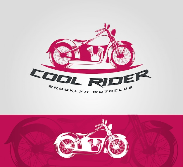 Vector vintage bike logo template