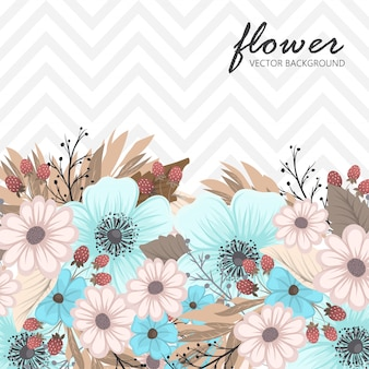 Vector vintage botanical banners with flower