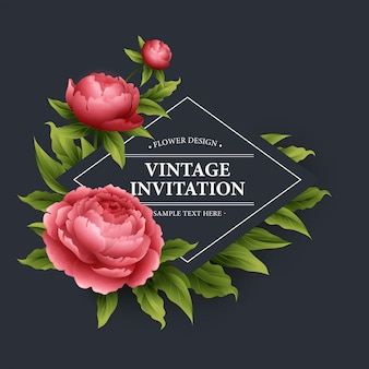 Vector vintage floral card.