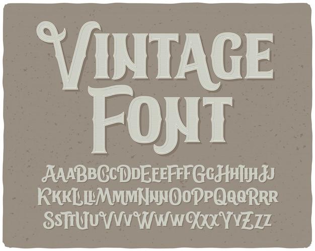 Векторный винтажный шрифт