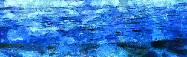 あなたのデザインの海の絵とビンテージ水彩画をベクトルします。