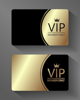 Vector vip member card gold and black
