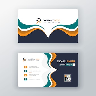 Vector visit card template