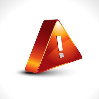 Vector warning sign icon design