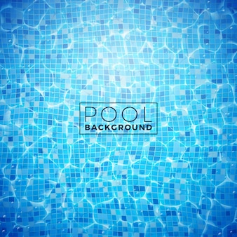 Вектор воды в плиточном бассейне дизайн фона