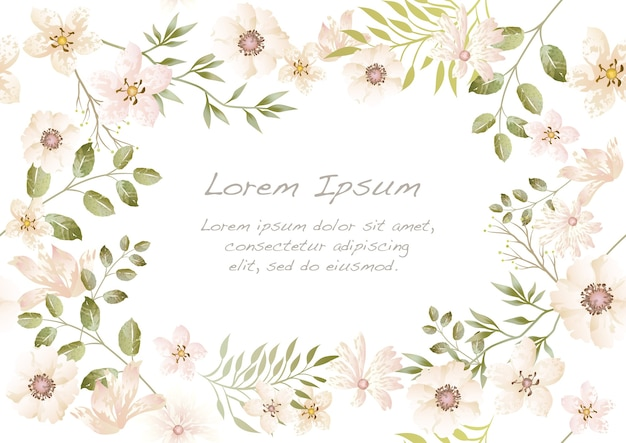 Vector watercolor seamless floral.