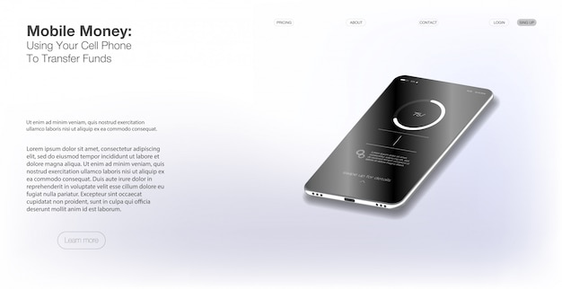 Vector web design and mobile template. different ui, ux.