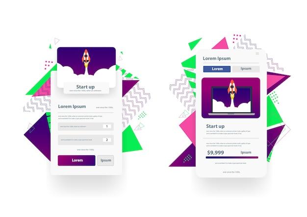 벡터 웹 방문 페이지 디자인 템플릿 관리 앱