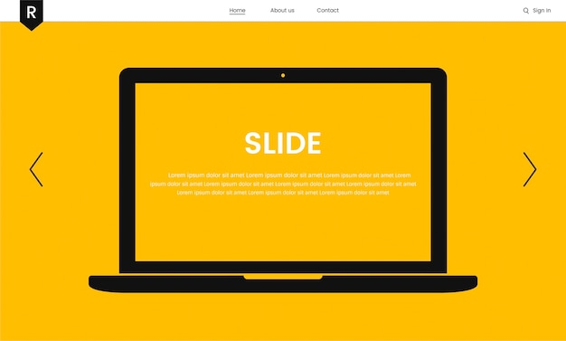 Vector of website elements for web design