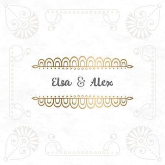 ベクトル結婚式招待状