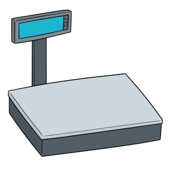 Vector of weighing machine