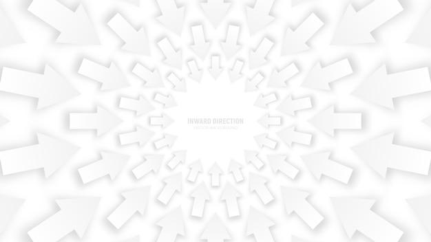 Vector white 3d arrows abstract conceptual illustration