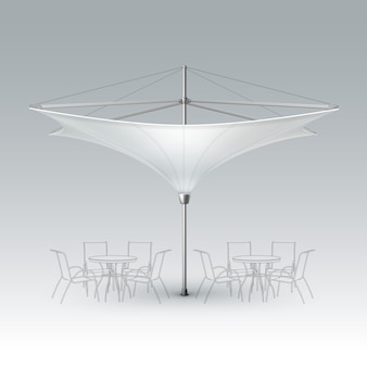 Vector white blank inversed lotus patio outdoor beach cafe bar pub lounge restaurant