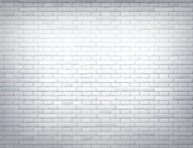 Vector white brick wall texture design