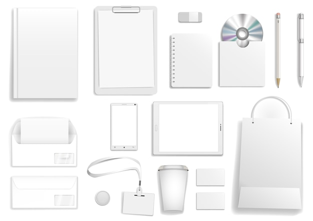Vector white corporate mock up