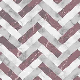 ベクトル白灰色とピンクのヘリンボーン大理石のシームレスなパターン斜めの霜降り面を繰り返す