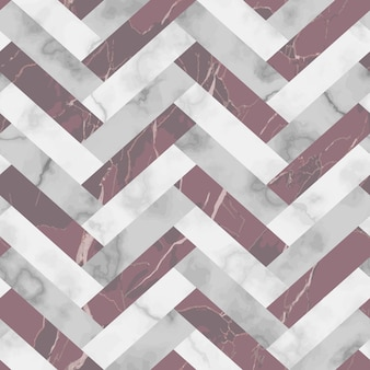 Vector white gray and pink herringbone marble seamless pattern repeat diagonal marbling surface