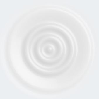 Vector white milk yogurt is circular and cream white
