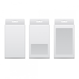 Vector white package for software, electronic device and other products