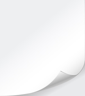 Vector white paper background with curled corner