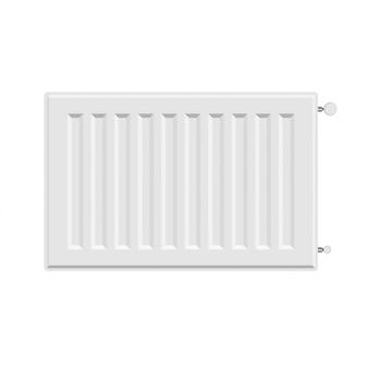 Vector white radiator heater