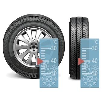 벡터 겨울 타이어